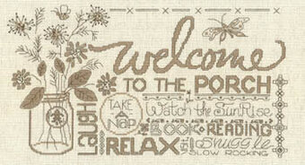 Porch Welcome - Cross Stitch Pattern