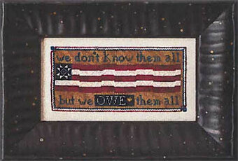 Owe Them All - Cross Stitch Pattern