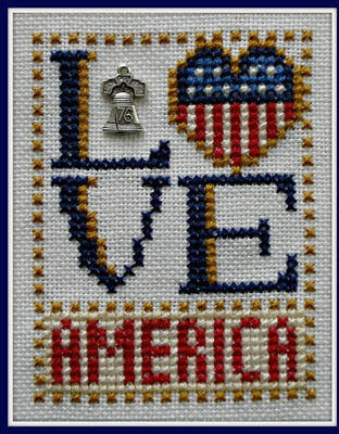 Love America - Cross Stitch Pattern