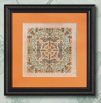 Green Damsel - Cross Stitch Pattern