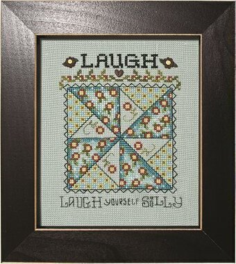 Laugh - Whirligig Quilt Block - Cross Stitch Pattern