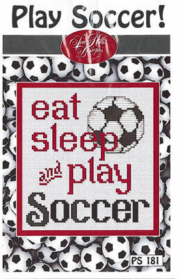 Play Soccer - Cross Stitch Pattern
