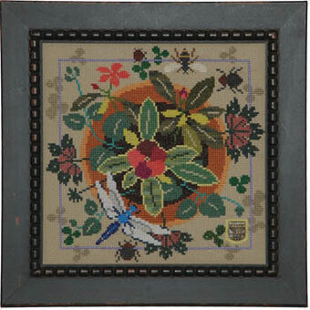 Bloom & Bugs Vinca - Cross Stitch Pattern