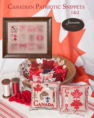 Canadian Patriotic Snippets Part 1 & 2 - Cross Stitch Patter