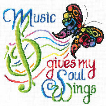 Music Wings - Cross Stitch Pattern