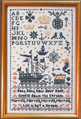 Row Row Your Boat - Cross Stitch Pattern