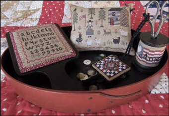 American Homestead Sewing Set - Cross Stitch Pattern