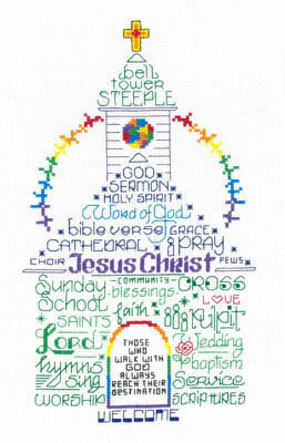 Let's Go To Church - Cross Stitch Pattern