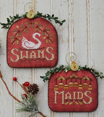 12 Days Swans & Maids - Cross Stitch Pattern