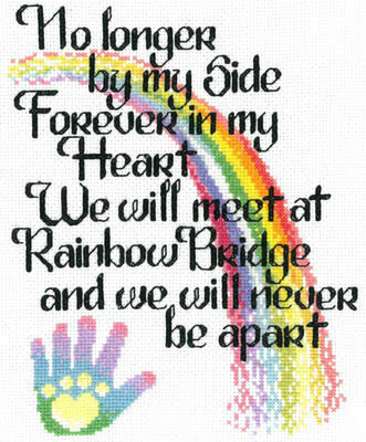Let's Cross the Rainbow Bridge - Cross Stitch Pattern
