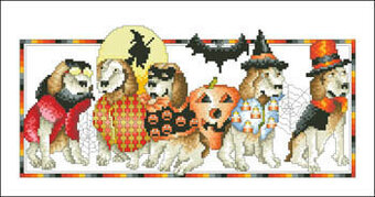 Halloween Hounds - Cross Stitch Pattern
