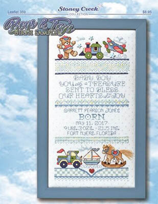 Boys & Toys Birth Sampler - Cross Stitch Pattern