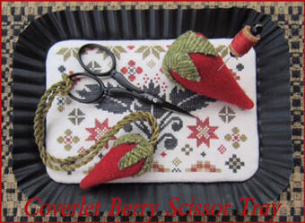Coverlet Berry Scissor Tray - Cross Stitch Pattern