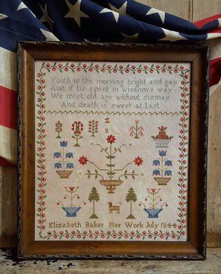 Elizabeth Baker 1844 - Cross Stitch Pattern