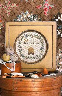 B is for Beekeeper - Cross Stitch Pattern