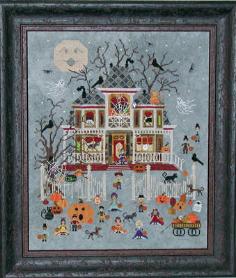 Mummy's Moonlight Cafe - Cross Stitch Pattern
