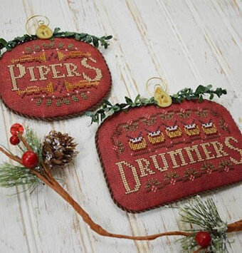 Pipers & Drummers - 12 Days - Cross Stitch Pattern