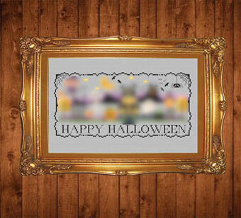 Halloween Stitch-a-Long Border - Cross Stitch Pattern