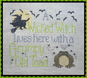 Wicked Witch & Grumpy Toad - Cross Stitch Pattern