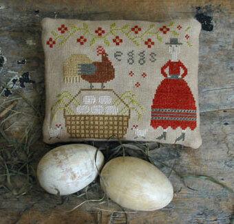 Sister's Farm Fresh Eggs - Cross Stitch Pattern