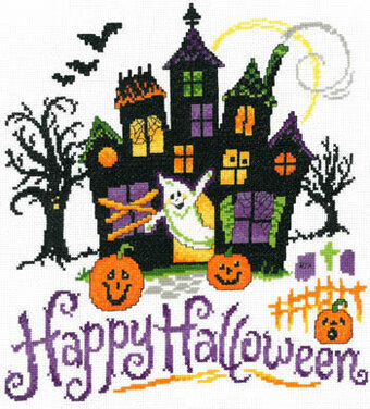 Haunted Halloween House - Cross Stitch Pattern