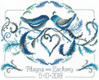 Love Birds Wedding - Cross Stitch Pattern