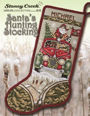 Santa's Hunting Stocking - Cross Stitch Pattern