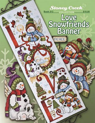 Love Snowfriends Banner - Cross Stitch Pattern