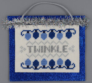 Twinkle (Blue & Silver Christmas) - Cross Stitch Pattern