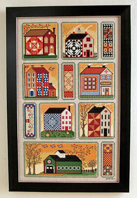 Quilty Neighborhood - Cross Stitch Pattern
