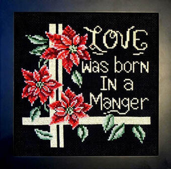 Love Was Born in a Manger - Cross Stitch Pattern