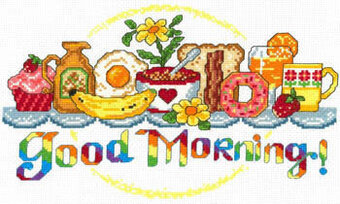 Good Morning Breakfast - Cross Stitch Pattern