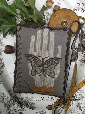 Moon Moth Pinkeep - Cross Stitch Pattern