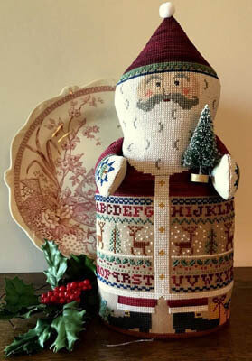 Sampler Santa - Cross Stitch Pattern