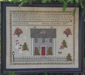 Poinsettia Manor - Cross Stitch Pattern