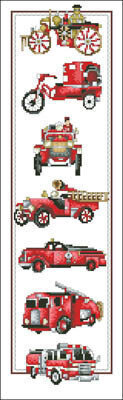 History of Fire Engines - Cross Stitch Pattern