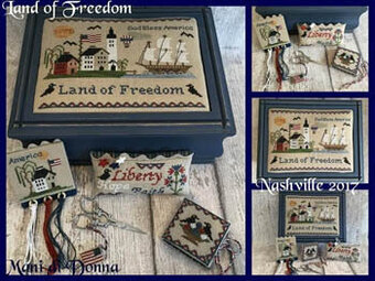 Land of Freedom Sewing Set - Cross Stitch Pattern