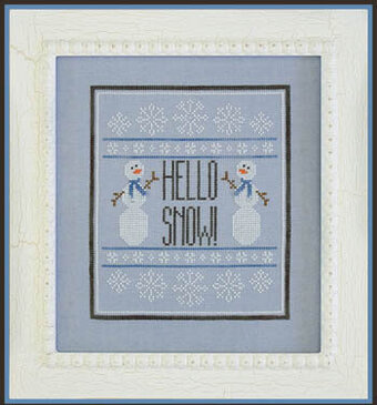 Hello Snow - Cross Stitch Pattern