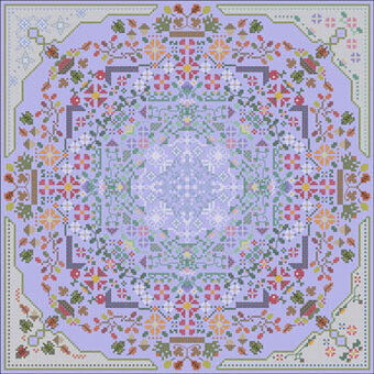 Four Seasons Mandala - Cross Stitch Pattern