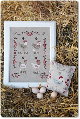 Galline (Hens) - Cross Stitch Pattern