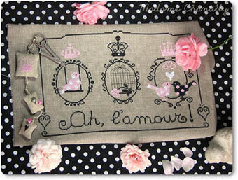 Ah, L'amour (Love) - Cross Stitch Pattern