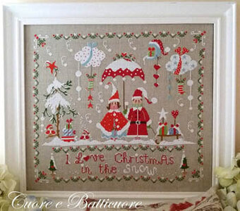 Christmas in the Snow - Cross Stitch Pattern