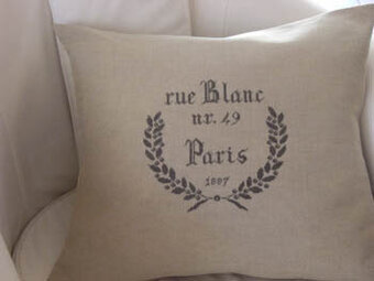Paris Rue Blanc 1887 - Cross Stitch Pattern