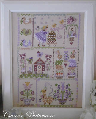 Easter in Quilt - Cross Stitch Pattern