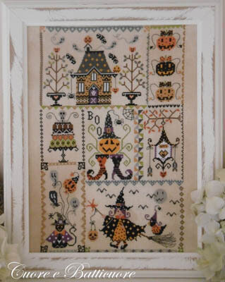Halloween in Quilt - Cross Stitch Pattern
