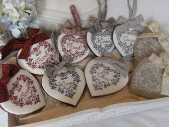 Le Parole Del Cuore (Hearts) - Cross Stitch Pattern