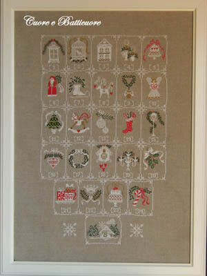 Shabby Advent Calendar - Cross Stitch Pattern