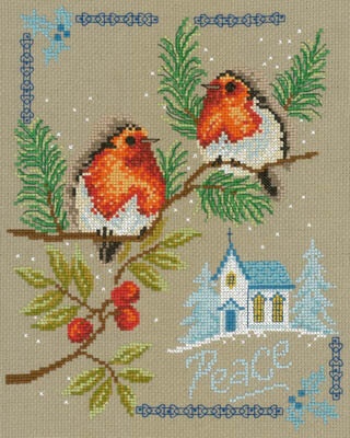 Peaceful Birds - Cross Stitch Pattern