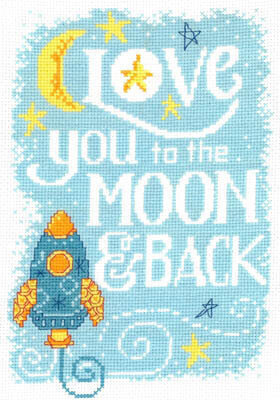 Love You to the Moon - Cross Stitch Pattern