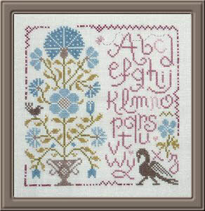 Sampler Aux Bouquet 1 - Cross Stitch Pattern